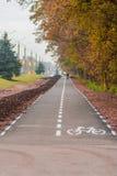 Майна велосипеда вдоль дороги в Украине Стоковые Фотографии RF