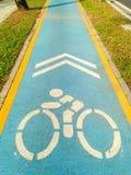 Майна велосипеда знака голубая Стоковое фото RF