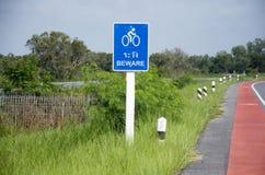 Майна велосипеда на дороге на сельской местности в Phatthalung Стоковое фото RF