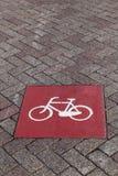 Майна велосипеда подписывает внутри Амстердам Нидерланды Стоковое Изображение RF