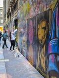 Майна Мельбурн 2 соединения искусства улицы Стоковое фото RF