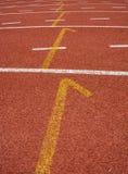 Майна следа старта атлетики Стоковые Фото