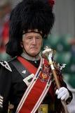 Майор трубы на играх гористой местности в Шотландии Стоковые Фото