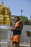 Майсур, Karnataka/Индия - 01/03/2012: укомплектуйте личным составом индусское Krishnaite Стоковое Изображение