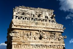 майяская богато украшенный руина Стоковое фото RF