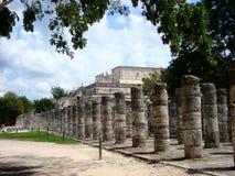 Майяская культура Мексика Pyramide руин chitzen itza yucatan Стоковые Фото