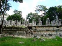 Майяская культура Мексика Pyramide руин chitzen itza yucatan Стоковые Фотографии RF
