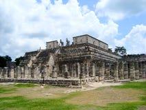 Майяская культура Мексика Pyramide руин chitzen itza yucatan Стоковые Изображения