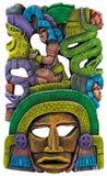 Майяская маска глины - Мексика Стоковое фото RF