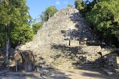 Майяская пирамида в Coba Стоковое Фото