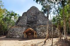 Майяская пирамида, Coba, Мексика Стоковая Фотография