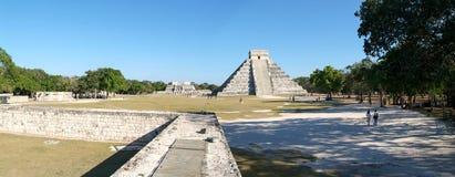 Майяская пирамида Kukulcan El Castillo в Chichen Itza Стоковое Изображение
