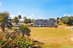 Майяская пирамида, Tulum, Мексика Стоковые Фотографии RF