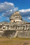 майяская руина обсерватории Стоковое Фото