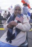 Майяская старшая женщина в стуле колеса Стоковое Изображение RF