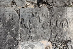 Майяская стена руин Стоковое Изображение