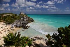 майяская сторожевая башня стоковые фото