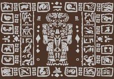 Майяские орнаменты Стоковое Изображение RF