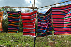 Майяские одеяла для продажи Стоковое фото RF