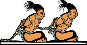 майяские пленники бесплатная иллюстрация