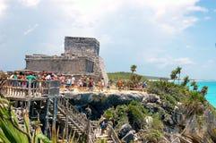 Майяские руины виска Стоковое Изображение