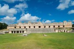 Майяские руины в Uxmal Юкатане Стоковое фото RF