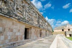 Майяские руины в Uxmal Юкатане Стоковые Изображения RF