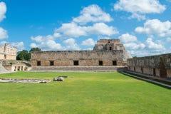 Майяские руины в Uxmal Юкатане Стоковая Фотография RF