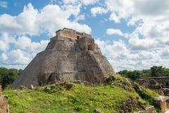 Майяские руины в Uxmal Юкатане Стоковая Фотография