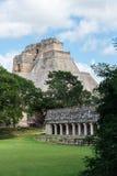 Майяские руины в Uxmal Юкатане Стоковое Фото