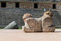 Майяские руины в Uxmal Юкатане Стоковые Изображения