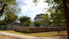 Майяские руины на Chichen Itza Стоковая Фотография