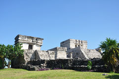 Майяские руины на Tulum в Мексике Стоковое фото RF