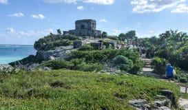 Майяские руины Tulum города Стоковое Изображение RF