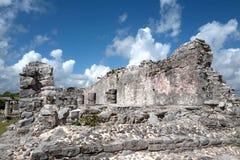 Майяские руины Tulum, Мексики Стоковые Изображения
