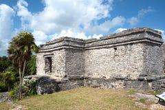 Майяские руины Tulum, Мексики Стоковое Изображение
