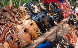 Майяские сувениры маски на Chichen Itza Стоковые Изображения RF
