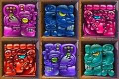 Майяский - ацтекская иллюстрация Стоковое Изображение RF