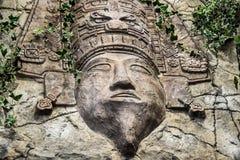 Майяский высекаенный бог Стоковые Изображения