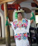 Майяский танец Jarana, Chichen Itza, Юкатан, Мексика стоковые изображения