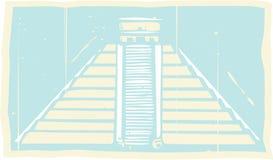Майяский Codex пирамиды иллюстрация штока