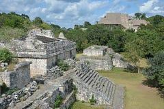 Майяское археологическое место Ek Balam (черного ягуара) окружило b Стоковое фото RF