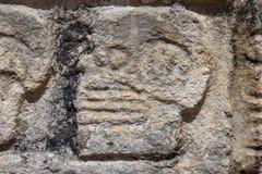 Майяское каменное резное изображение Стоковые Фото