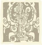 майяское woodblock зрения смея иллюстрация штока
