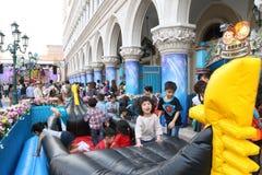 Макао: Венецианское Carnevale 2014 Стоковое фото RF