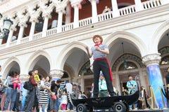Макао: Венецианское Carnevale 2014 Стоковые Фотографии RF