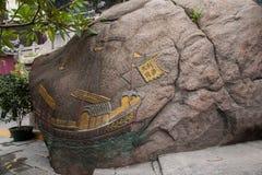Макао известный исторический строя Matsu, история и культура каменной скалы стоковое фото