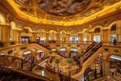 Макао, Китай - зала венецианской гостиницы большая стоковое изображение rf