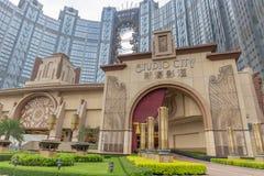 Макао, Китай - 22-ое апреля 2018 - острословие роскошной гостиницы ГОРОДА СТУДИИ стоковые изображения