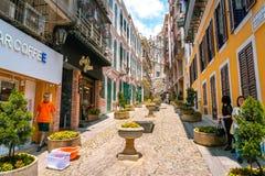 Макао, Китай - старая часть города стоковые фотографии rf